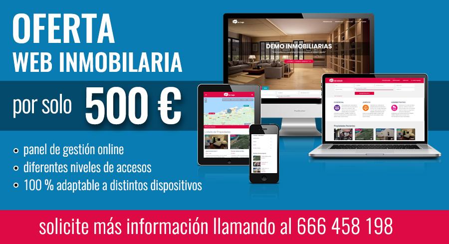 Oferta Web para Inmobiliarias precio solo 500 €